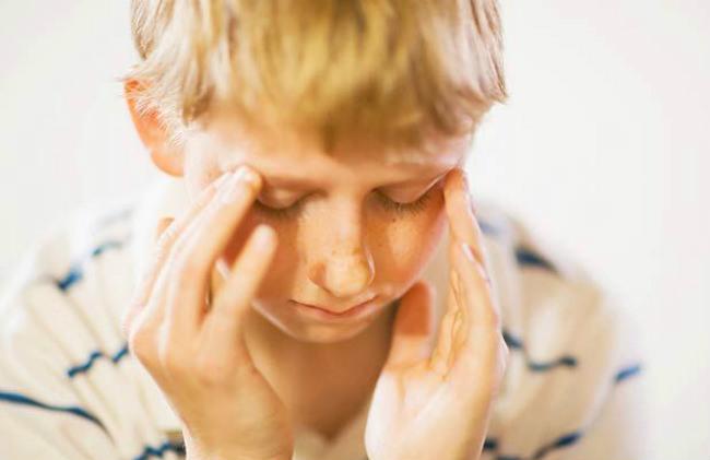 ребенок с плохим самочувствием
