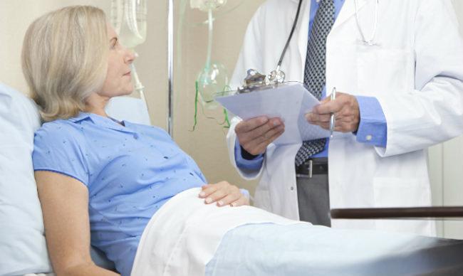 пациентка с раком яичников в палате