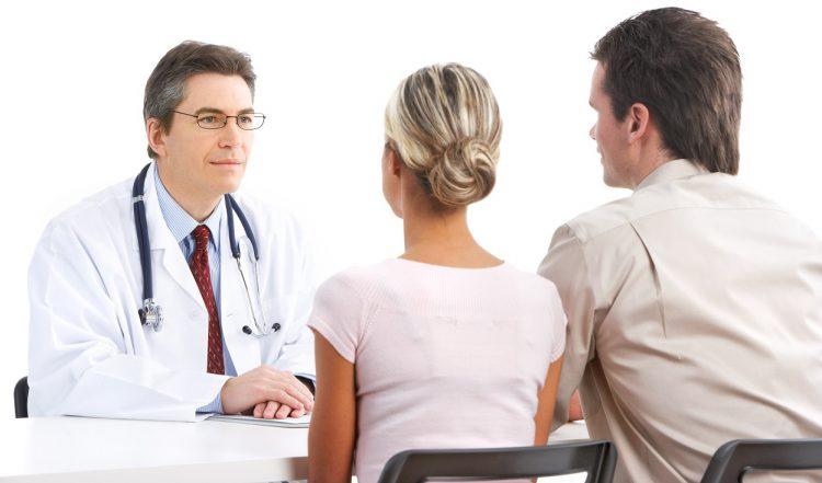 Беседа доктора с парой