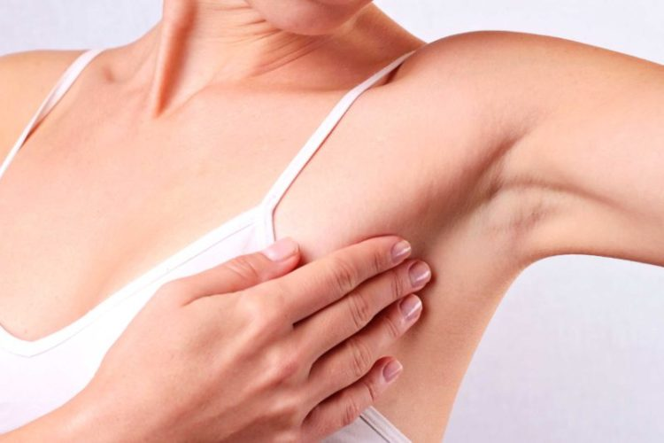 Прощупать грудь
