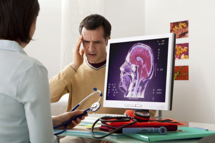 Петрокливальная менингиома головы